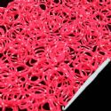 Loom Twister Bands, Elastic rubber, Magenta, white, 300 Bands Per Pack, 1.4mm, [XPJ0031]